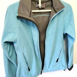 REI Fleece Zip Jacket Blue (Size Small)